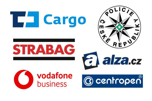ČD Cargo, Vodafone, Policie, Centropen, Alza.cz