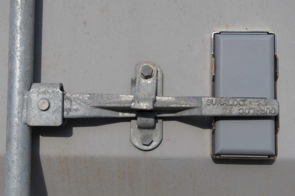Battery GPS tracker installed on truck